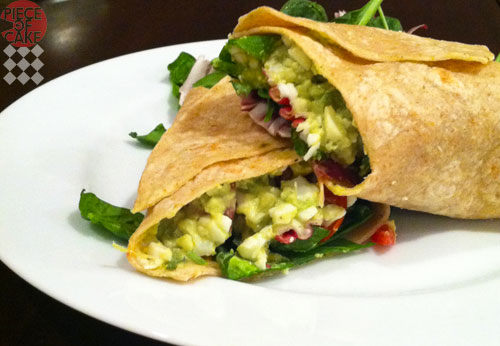 Avocado Egg Salad Wrap