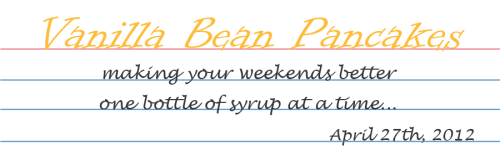 Vanilla Bean Pancakes Title