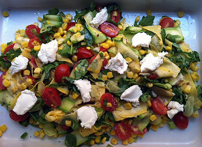 Zucchini Ribbon Summer Salad
