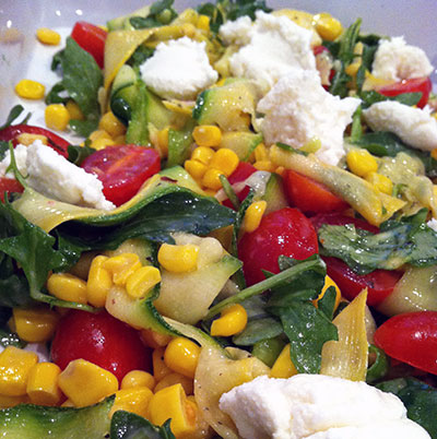 Zucchini Ribbon Summer Salad 1