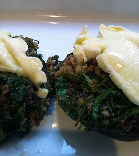 Brie and Arugula Stuffed Portobellos
