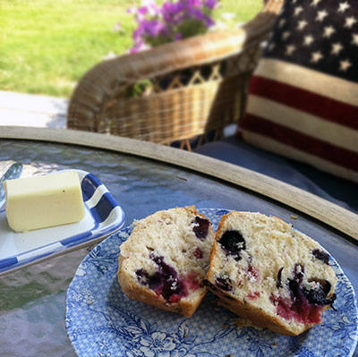 Red, White, Blue Muffins